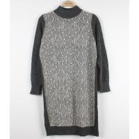 Quality Wool Long Ladies Sweater Dresses With Lace Front Classic Clothes wholesale