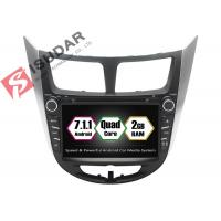 Quality Rockchip PX3 7 Inch 2 Din Android Car DVD Player For Hyundai Verna / Accent / Solaris wholesale