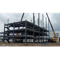China High Multi Storey Prefabricated Steel Structure Building Galvanised / Painted Surface on sale