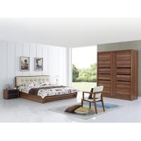 Cheap Cheap FSC Certificated Good quality Upholstery headboard bed with wood storage bottom and Sliding door wardrobe for sale