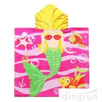 Quality Full Printing Animal Design Hooded Poncho Towels For Beach / Pool wholesale