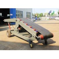 China Single Wing Hydraulic Lifting Mobile Belt Conveyor , Truck Loading Belt Conveyor on sale