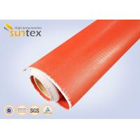 China 1mm Thick Both Side Silicone Rubber Coated Fabric Expansion Joint Material For Heat / Cold Insulation on sale