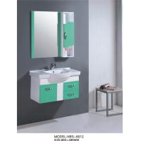 Quality 80 * 49 cm single sink PVC Bathroom Cabinet Full Extension drawers wholesale