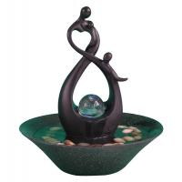 Quality 10' Happy Family Table Top Water Fountains Sculpture Water Fountain With Fengshui Ball wholesale
