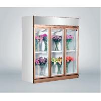 China Commercial Fresh Flower Glass Door Freezer Multi - Climate Fan Cooling on sale