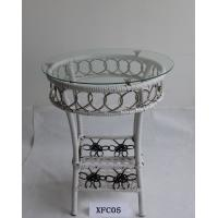 Buy cheap Small Garden Furniture Rattan Table with Glass cover product