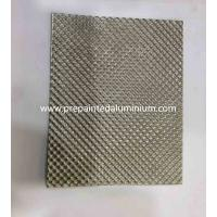 China Alloy 1060 Diamond pattern embossed aluminum sheet used for Decoration on sale