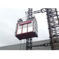 Quality Building Construction Hoist Elevator , Twin Cage Material Lifting Equipment 2 Ton Capacity wholesale