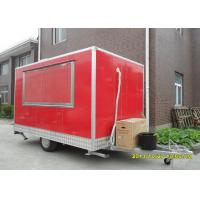 Quality Sliding Glass Window Mobile Food Trailers For Hamburger And Fryer Business wholesale