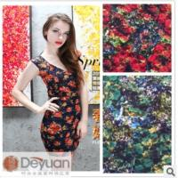 China Grade knitted lace jacquard fabric/Printed knitted lace fabric on sale
