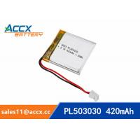 Quality 503030 3.7V 420mAh Small battery Lipo battery lithium polymer battery for digital devices,bluetooth speaker wholesale