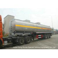 Quality LiquidAlkali Tanker Trailer With Stainless Steel Polished Tank For Sodium Hydroxide wholesale