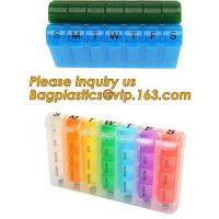 Quality Large Weekly Medication Capsule Pill Box,Fashionable portable pocket size pill box with cover easy open pill box organiz wholesale