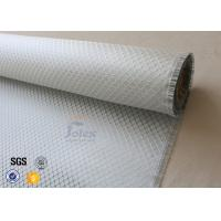 Quality Silver Coated Cloth Surface Decoration 0.2mm Aluminized Fiberglass Fabric wholesale