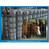 China Multi Function Galvanized Cattle Fence , Galvanized Horse Fence 30 - 100m Length on sale