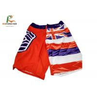 Buy cheap Beach Style Flag Pattern Men Board Shorts , Swimming Surf Shorts With Sublimation Printing from wholesalers