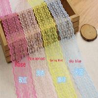 China 45cm Lace Ribbon Tape DIY Embroidered Lace Trim Fabric Sewing Decoration on sale