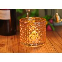 Cheap Recycled Decorative Glassware Candle Jar Shiny Liquid Luster Finish for sale