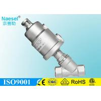 Quality 2 / 2 Way Pneumatic Solenoid Valve , Angle Seat Automatic Solenoid Valve Ss Valve Body wholesale