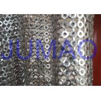 China Silver Hollow Metal Sequin Fabric Light Sparkling Curtains For Architect on sale