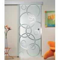 China 5/16 Tempered Sliding Glass Doors With Smooth Surface Safety on sale