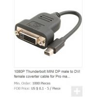 Quality 1080P Thunderbolt MINI DP to DVI Female 24+1/24+5 32AWG convert cable for Macbook Pro LCD wholesale