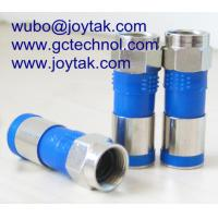 Quality F male compression connector coaxial connector waterproof for RG6 coaxial cable wholesale