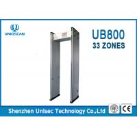 Quality 33 mutual over-lapping detecting zones and 999 sensitivity level  walk through metal detector UB800 for school and bar. wholesale