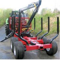 Quality CE WOOD TRAILER WITH CRANE forestry equipment log trailers with grapple wholesale
