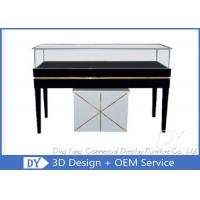 Quality Rectangle Wooden White Black Glass Display Plinth With Cabinet Lockable wholesale