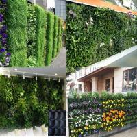 Quality PE Fabric Reusable Hanging Flower Bags , Vertical Garden Planters For Vegetable wholesale
