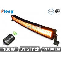 Quality Amber White Flashing 180W Curved Led Light Bar 31.5  with CE , ROHS certificate wholesale