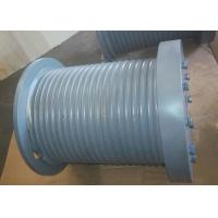 Quality Marine Hydraulic Winch Drum Durable With Rope Groove / Rope Inlet wholesale