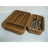 Quality Divided Rattan Cutlery Basket wholesale