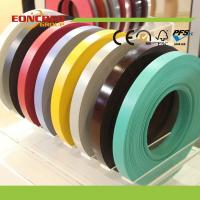 Cheap china High Glossy Solid Color Wood Grain Color PVC Edge Banding for sale