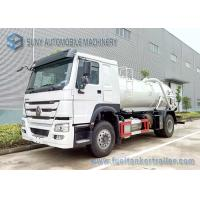 Quality SINOTRUK HOWO Sewage Suction Tanker 4X2 Truck 12000L Vacuum Tank wholesale