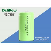 ROHS / Iso Approved 1.2 V 3000mah Rechargeable Battery For Cold Resistant