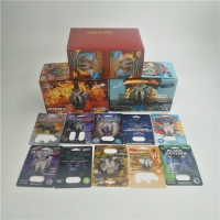 China Custom rhino male enhancement sex pill packaging boxes and blister 3d cards and box 3D Rhino blister card for capsules on sale