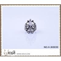 Quality New Fashion #8 / 10g 316l Stainless Steel Death's - Head Ring H-JK0030 wholesale