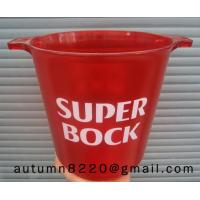 Quality red mini plastic clear ice bucket wholesale