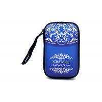 Blue Video Game Travel Case EVA Plate With Screeing Printing Logo , 160*105*30mm