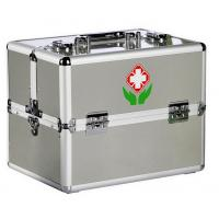 China Double Open Aluminum Fisrt Aid Cases Trays Emergency Medical Kits on sale