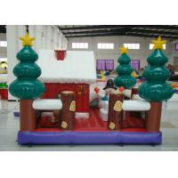 Cheap Party Blow Up Christmas Tree Decoration , Giant Christmas Inflatables Bouncer House for sale