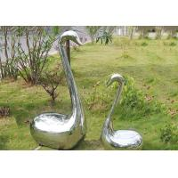 Quality Handmade Swan Stainless Steel Animal Garden Ornaments With Surface Polished wholesale