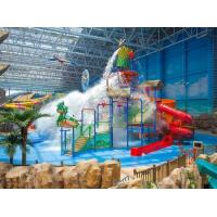 Quality Spray Small Green Water Playground Equipment Red / Blue Slide Water Playground wholesale