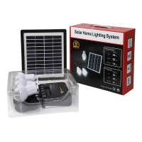 China 4W Solar Home Lighting Systems 3 Rooms Solar Panel Light Kit on sale