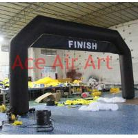 Quality cheap free standing  8m x4m   custom black  inflatable bow with removable banner  for  New Zealand come with air blower wholesale