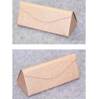 Quality Luxury Eyewear Box Leather Retro Glasses Case , Folding Eyeglass Case wholesale