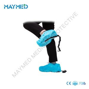 China 15*36cm Disposable PP Shoe Cover Nonskid With Conductive Strip on sale